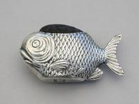Edwardian Novelty Silver Fish Pin Cushion, Lr110521 (7 of 11)