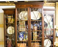 Antique 19th Century Mahogany Breakfront Bookcase (5 of 12)