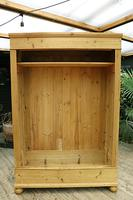 Fabulous Old Pine Knock Down 'arts & Crafts' Double Wardrobe  - We Deliver & Assemble! (15 of 16)