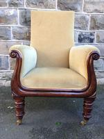 Antique Mahogany Library Armchair (4 of 10)