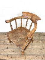 Antique Beech & Elm Smoker's Bow Chair (7 of 8)
