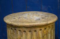 Pair of 19th Century Simulated Marble Plinths. Reeded Pedestal Columns (3 of 6)