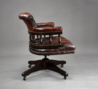 Ox Blood Leather Office Chair (3 of 10)