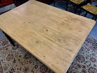 Antique Victorian Pine Farmhouse Table with Drawer (6 of 16)