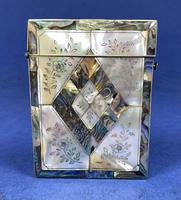 Victorian Abalone & Mother of Pearl Card Case (3 of 11)