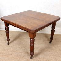 Oak Dining Table 6 Seater Victorian Wild Golden Oak 19th Century Solid (7 of 16)