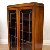 Oak Leaded Glass Bookcase (11 of 15)