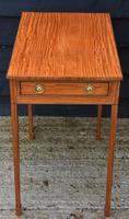Superb Quality Georgian Satinwood & Inlaid Lamp / Wine / Side Table c.1800 (4 of 10)