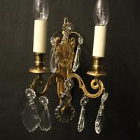 French Pair of Gilded Brass Wall Lights (9 of 10)