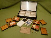 French Inlaid Rosewood Games Box + Accessories c.1880 (9 of 11)