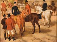 "Oil Painting by Edward Benjamin Herberte ""The Meet at Stonebridge"" (4 of 6)"