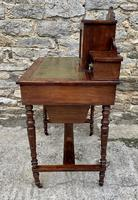 Antique Rosewood Inlaid Writing Desk (14 of 19)