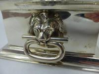 Antique Edwardian Silver Inkstand Birmingham 1910 by Hukin & Heath (5 of 10)