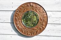 Arts & Crafts, William Mawson, Keswick Home Industries, Acorns & Oak leaf design, copper mirror c.1910.