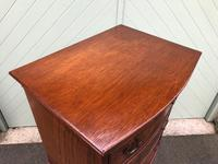 Antique Slim Burr Walnut Chest on Chest (5 of 8)