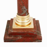Rouge Marble & Brass Table Lamp (7 of 7)