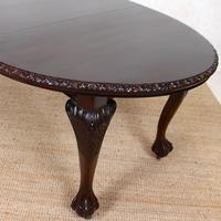 Dining Table Victorian Mahogany 19th Century 6 Seater Carved Cabriole (8 of 12)