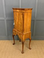 Burr Walnut Cupboard on Stand (15 of 15)
