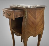 French Marquetry Bedside Table Louis XVI Style (7 of 10)