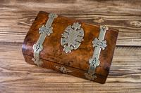 Burr Walnut & Brass Jewellery Box 1860 (7 of 14)