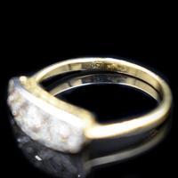 Antique Diamond 11 Stone 18ct 18K Yellow Gold & Platinum Ring (2 of 10)