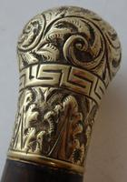 Rare George II Walking Stick Cane Copper Pommel Stained Beech Shaft c.1750 (6 of 13)