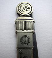 Rare ESSO Solingen Folding Pocket Knife, Advertising Gas Pump Standard Motor Oil Novelty Penknife. Germany c.1920 (9 of 9)