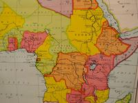 "Large University Chart ""Physical Map of Africa"" by Bacon (6 of 11)"