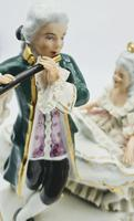 Dresden Germany Porcelain Figurine Musicians Playing Piano & Flute (7 of 9)