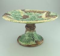 Attractive Majolica Pottery Cabbage Ware Comport / Tazza 19th Century (2 of 6)