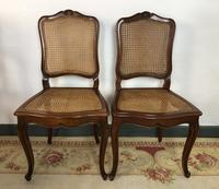 Vintage French Set of 6 Cherrywood Bergère Cane Dining Chairs with Carvers (7 of 14)