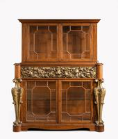 Mid 19th Century Satinwood Cabinet with Elaborate Giltwood Decoration (2 of 7)