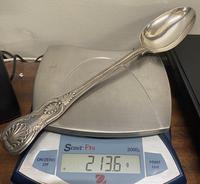 Beautiful Large Silver Basting Spoon, London 1860 (4 of 4)