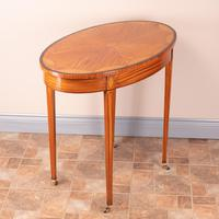 Inlaid Oval Satinwood Occasional Table (3 of 15)
