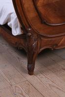 Lovely Quarter Veneer Louis XV Style Double Bed (8 of 10)