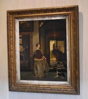 Fine Dutch Interior Scene Oil Painting