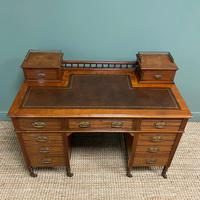 High Quality Victorian Maple & Co Antique Pedestal Desk (8 of 9)