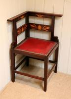Mahogany Art Nouveau Corner Chair c.1900 (3 of 8)