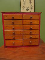 Antique Miniature Scratch Built Bank of Drawers, made from Jamaican Cigar Boxes (8 of 19)