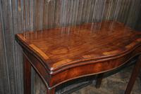 Chippendale Serpentine Mahogany Card Table (6 of 10)