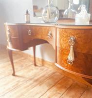 Burr Walnut Dressing Table / Vanity / Sideboard (5 of 6)