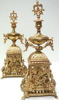 Impressive Antique Candelabra 8-day Clock Set French Striking Rococo Ormolu Bronze Mantel Clock (6 of 15)