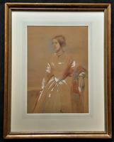 Frederick Cruickshank Fine Watercolour Portrait Painting of Lady (12 of 12)