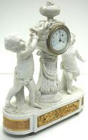 French Empire Figural Mantel Clock – Bisque Porcelain Cherub Verge Mantle Clock c.1800 (13 of 13)