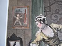 William Hogarth, Pair of Original Prints, Later Hand Colour, Before and After Engraved 1736 (5 of 10)