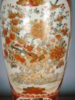 Antique Japanese Kutani Vase Meiji Lamp (9 of 10)