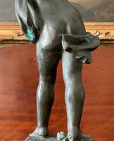 Fine Large 19th Century Antique Solid Bronze Cherub Sculpture Statue Figurine (11 of 13)