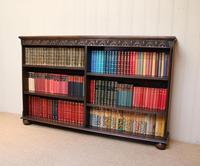 Oak Open Bookcase c 1930 (7 of 12)