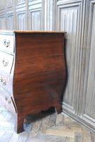 Dutch mahogany bombe commode / chest of drawers (8 of 8)