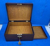 William IV Rosewood Jewellery Box With A Side Drawer (8 of 8)